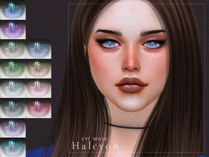 Sims 4 — [ Halcyon ] - Eye Mask by Screaming_Mustard — A new eye mask. For males and females, toddler +. With custom
