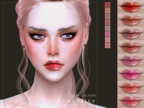 Sims 4 — [ Evocative ] - Lip Colour by Screaming_Mustard — A fun glossy lip colour. For females, teen +. With custom