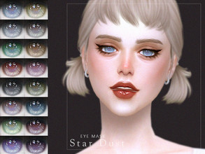 Sims 4 — [ Star Dust ] - Eye Mask by Screaming_Mustard — A new eye mask. For males and females, toddler +. With custom