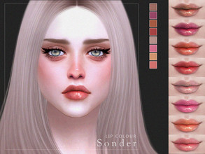 Sims 4 — [ Sonder ] - Lip Colour by Screaming_Mustard — A pretty, detailed lip colour. For females, teen +. With custom