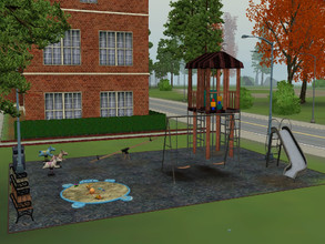 Sims 3 — Tiny Play Park by dyeawkward — This well loved park is just the right size for your little ones! Good for