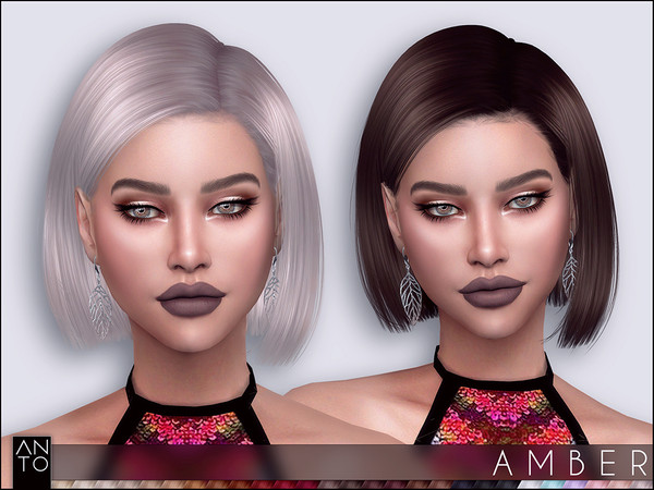 The Sims 4: Anto - Amber (Hairstyle)