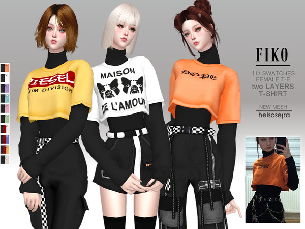 The Sims 4 FIKO - 2 layers T-Shirt