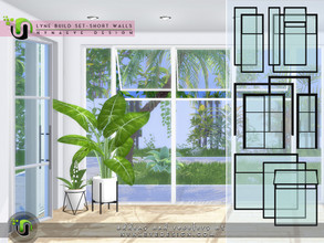 Sims 4 — Lyne Build Set IV - Three Quarters Windows and Doors by NynaeveDesign — From new construction to remodeling or