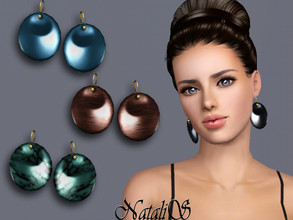 Sims 3 — NataliS TS3 Disc drop earrings FT-FA by Natalis — Disc drop earrings. FT-FA-FE 4 colors.