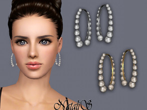 Sims 3 — NataliS TS3 Graduated Pearl Earrings by Natalis — Graduated Pearl Earrings. FT-FA-FE