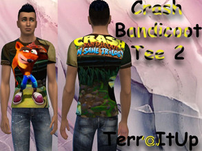 Sims 4 — Crash Bandicoot Tee 2 (Male) by TerraItUp — Crash Bandicoot Male Tee 2!! How to Install: 1. Download the file.