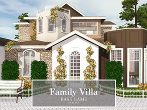 Sims 3 — Family Villa by Pralinesims — Base game NO EP's and SP's