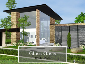Sims 3 — Glass Oasis by Pralinesims — Base game NO EP's and SP's