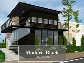Sims 3 — Modern Black by Pralinesims — Base game NO EP's and SP's