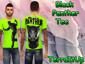 Sims 4 — Black Panther Tee (10 Colors!) by TerraItUp — Black Panther Tee (10 Colors!) How to Install: 1. Download the