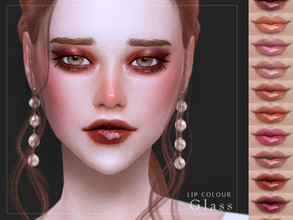 Sims 4 — [ Glass ] - Lip Colour by Screaming_Mustard — A sweet, detailed a super glossy lip colour. For females, teen +.