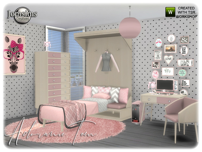 Jomsims Adoranie Teen Bedroom
