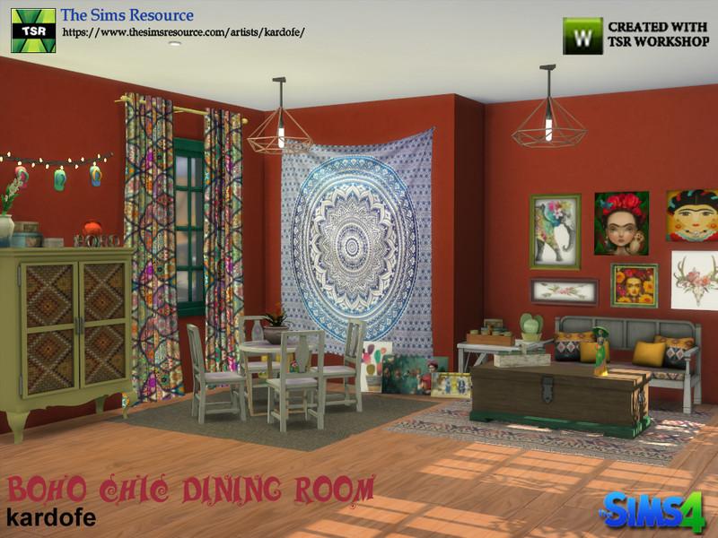 Kardofe Boho Chic Dining Room