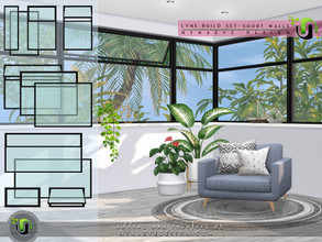 Sims 4 — Lyne Build Set V - Half and Quarter Windows by NynaeveDesign — Incorporate modern design into your sim's house
