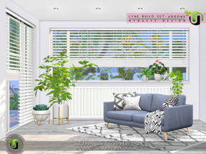 Sims 4 — Lyne Build Set - Addons by NynaeveDesign — Matching blinds for the Lyne half and tree quarter windows, matching