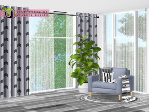Sims 3 — Lyne Curtains by NynaeveDesign — Control the amount of privacy your sims want, while you enhancing their view