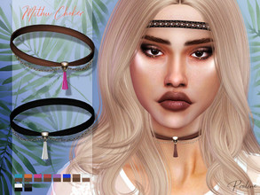 Sims 4 — Mithu Choker by Pralinesims — Chain drop choker with tassel, comes in 10 colors.