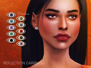 Sims 4 — Reflection Earrings by Pralinesims — Eye earrings in 10 colors.