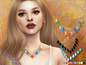 Sims 4 — Rainbow Necklace by Pralinesims — Necklace in 10 colors.