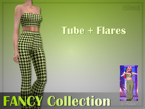 Sims 4 — Trillyke - Tube + Flares (FANCY Collection) by Trillyke — Inspired by TWICE's Chaeyoung. - 1 swatch - Edited EA