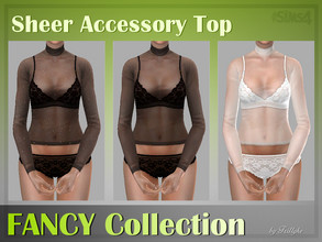 Sims 4 — Trillyke - Sheer Accessory Top (FANCY Collection) by Trillyke — Accessory long-sleeve tops of sheer material. -