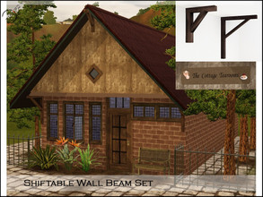 Sims 3 — Wall Beam Set by timi722 — Wall decors. The Set contains two wall beams and one old plat to decoration for your