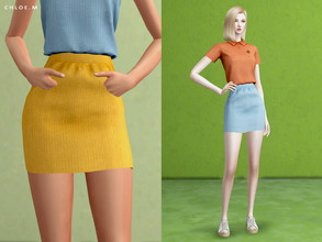 Sims 4 — ChloeM-Short skirt by ChloeMMM — **12 colors ** New mesh by me. ** Recolor is allowed but PLEASE DO NOT include