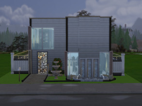 Sims 4 — Hillside Highlands by super_high — 2story house for a bachelor lifestyle 1 bedroom 1 bathroom +pool 20*30 lot