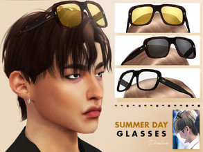 Sims 4 — Summer Day Glasses by Pralinesims — Summer version of my Spring Day Glasses, inspired by BTS' Taehyung.