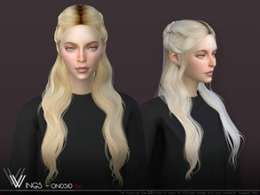 Sims 4 — WINGS-ON0510 by wingssims — This hair style has 20 kinds of color File size is about 16MB Hope you like it!