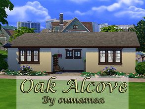 Sims 4 — Oak Alcove by oumamea by oumamea — Family home with 3 bedrooms, 2 bathrooms, kitchen dining area, Living room
