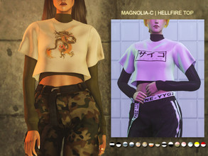 Sims 4 — Magnolia-C - Hellfire Top by magnolia-c — 15 colors / Custom thumbnail / Shadow map / All LODs Enjoy :D
