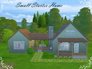 Sims 4 — Small Starter Home by Jelena7 — Small starter home ideal for starting a family , with two bedrooms.