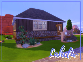 Sims 4 — Laheliv by Illysian — A small cabin, 1 bedroom, 1 bathroom, with a brown and beige theme. Little was done to the