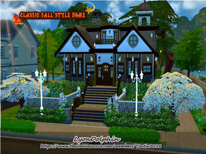 Sims 4 —  Modern Fall Style House by Tontin2018 — A house with very autumnal styles, and a very cozy climate, where your