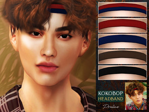 Sims 4 — Kokobop Headband by Pralinesims — Headband in 5 colors, inspired by EXO's Suho. Under hats category.