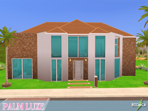 Sims 4 — Palm Luxe by bionca — A luxury mansion with: private undergroud movie theater, 4 bedrooms (3 suites), 4