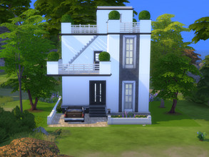 Sims 4 — Shiro by simcactus — This is a 20x20 build. On the back there is a small pond. The house itself has 3 usable