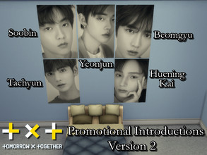 Sims 4 — TXT Promotional Posters V2 by PhoenixTsukino — Set of posters of K-Pop idol boy group Tomorrow x Together(TXT).