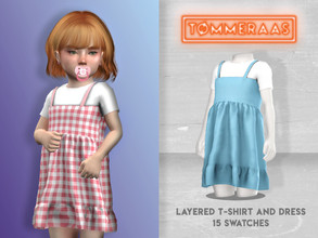 Sims 4 — Layered T-Shirt and Dress by TMMERAAS — - f toddler - custom thumbnails for each swatch - 15 swatches - new mesh