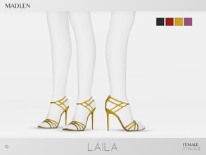 Sims 4 — Madlen Laila Shoes by MJ95 — Mesh modifying: Not allowed. Recolouring: Allowed (Please add original link in the