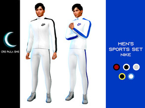 Sims 4 — Men's Sports Set Nike by Cris_Paula_Sims — This is a masculine set of the base game itself. I tried to give it a