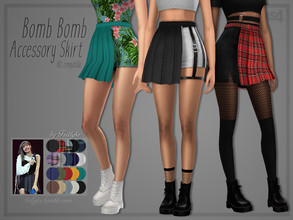 Sims 4 — Trillyke - Bomb Bomb Accessory Skirt by Trillyke — Accessory pleated skirt that can be worn with other skirts os
