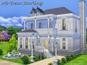 Sims 4 — MB-Dear_Darling by matomibotaki — Spacious Art Nouveau villa, cute and stylish but also cozy. Details: Chic