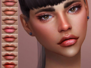 Sims 4 — [ Haunt ] - Lip colour by Screaming_Mustard — A pretty, natural lip colour. For females, teen +. With custom