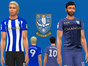 Sims 4 — Sheffield Wednesday FC jersey 2018/19 by RJG811 — Sheffield Wednesday FC jersey 2018/19 -Steven Fletcher -Barry