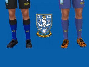 Sims 4 — Sheffield Wednesday FC socks 2018/19 by RJG811 — Sheffield Wednesday FC socks 2018/19 -home -away