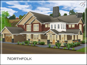 Sims 3 — Northfolk by timi722 — A comfortable Craftsman style home. Living room with fireplace is the perfect spot for