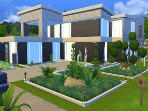 Sims 4 — Moonlight by Me_And_You2 — This house has two floors. On the first floor there is a kitchen, living room,